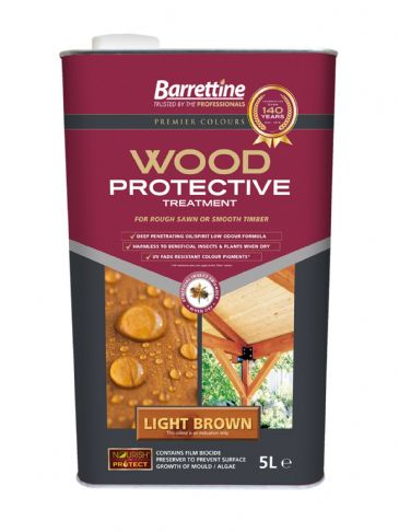 Barrettine wood protector light brown 5L